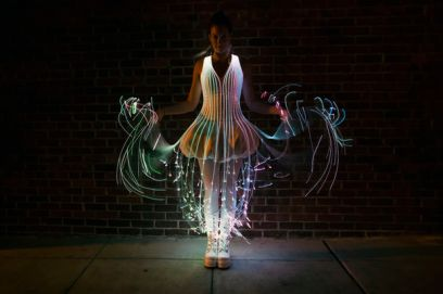 http://www.instructables.com/id/Fiber-Optic-Dress/